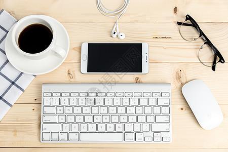 创意学习办公桌面平铺摆拍图片