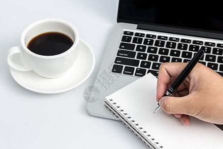 创意学习办公桌面书写摆拍图片