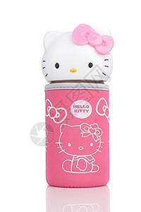 粉色KT猫布套杯图片