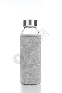 灰色布套玻璃杯图片