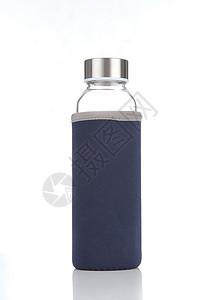 蓝色布套玻璃杯图片