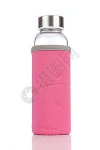 粉色布套玻璃杯图片