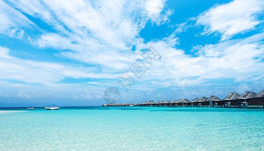 蓝色水屋纯净马尔代夫图片