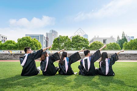 毕业季大学生美女背影图片