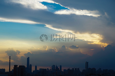 广州天台夕阳图片