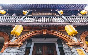朱家角老茶楼古建筑店铺图片