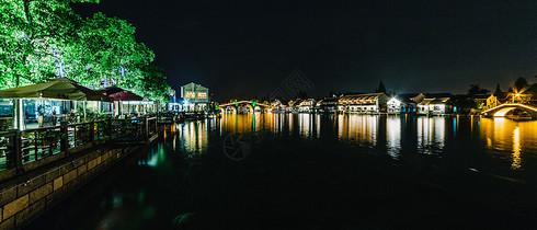 上海朱家角夜景水乡江南图片