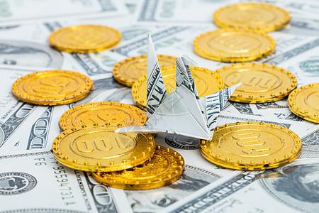 纸币折叠千纸鹤手工艺财富图片