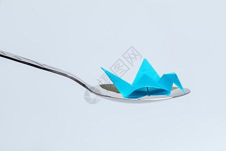 纸质千纸鹤不锈钢勺子设计图片