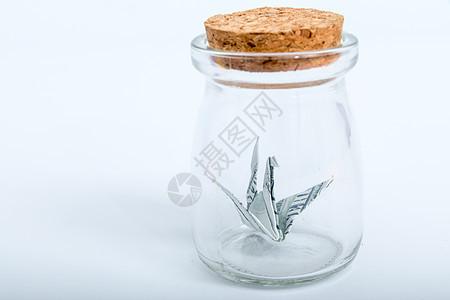玻璃瓶手工艺货币千纸鹤图片