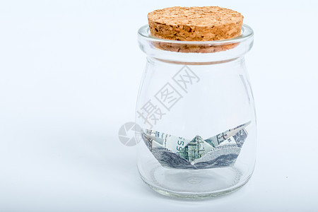 玻璃瓶货币手工艺纸船图片