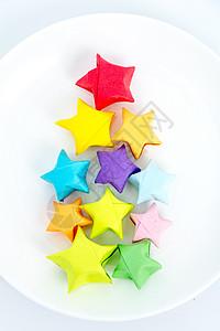 手工纸质星星创意摆设平拍图片