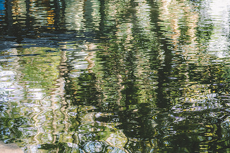 水波纹绿色背景环境绿意盎然图片