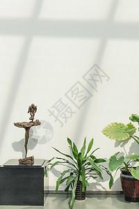 清新绿植阳光雕塑古镇文化图片