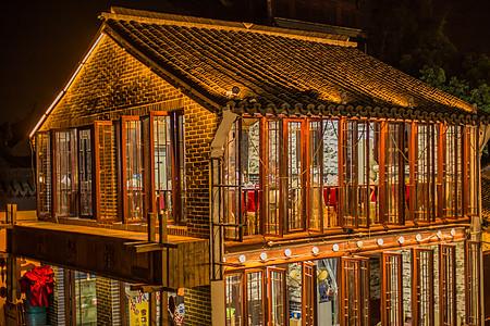 夜景房屋朱家角古镇建筑图片
