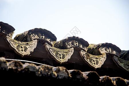 旅游朱家角古镇建筑屋檐图片