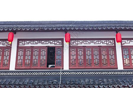 上海老街红灯笼国庆喜庆图片