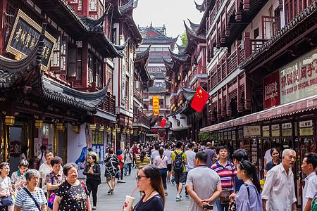 豫园商场游客国庆旅游度假图片