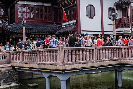 豫园红旗游客国庆旅游度假图片