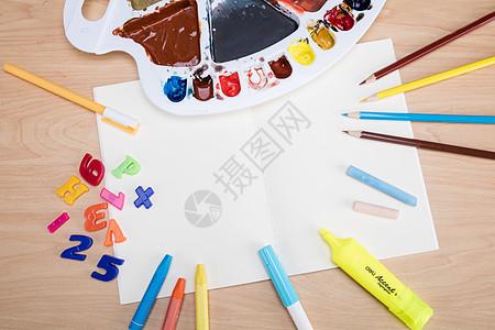 创意学习美术设计绘制摆拍图片