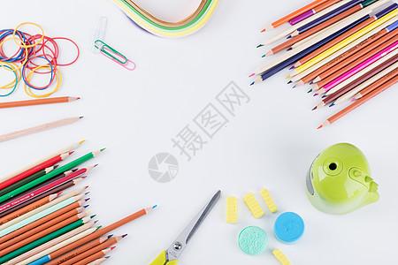 教育设计铅笔留白创意拍摄图片
