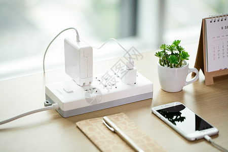 清新学习绿植文艺桌面摆拍图片
