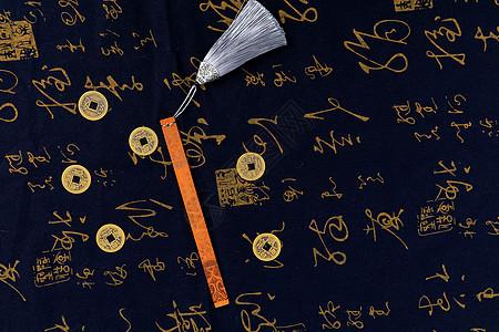 中国风竹书签摄影图片