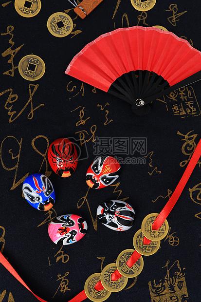 中国风京剧脸谱摆拍图片
