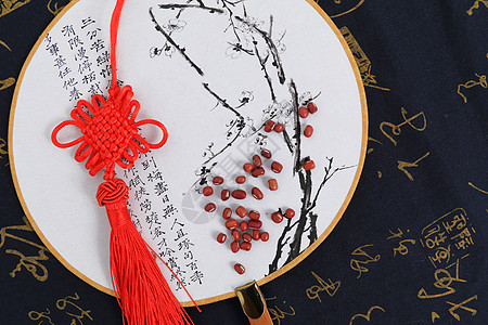 中国风绢扇图片
