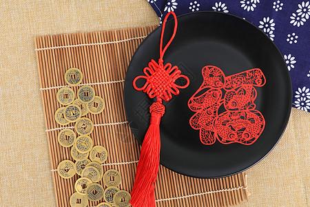 传统工艺品中国结剪纸图片