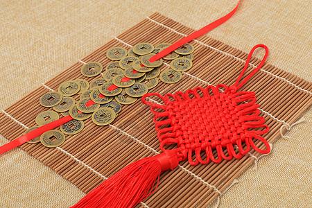中国结铜币拍摄图片