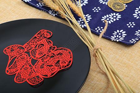 中国红福字剪纸工艺图片