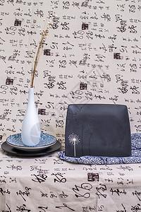 中国风简约礼品盘子摆拍图片