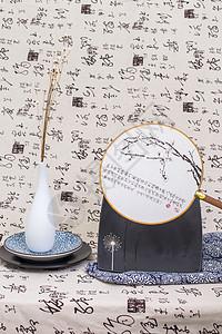 中国风节日礼品绫绢扇图片