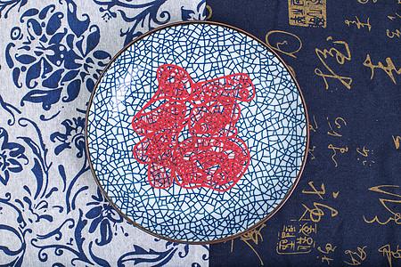 中国风礼品福气剪纸摆拍图片