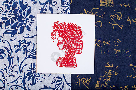 中国风礼品民族剪纸摆拍图片