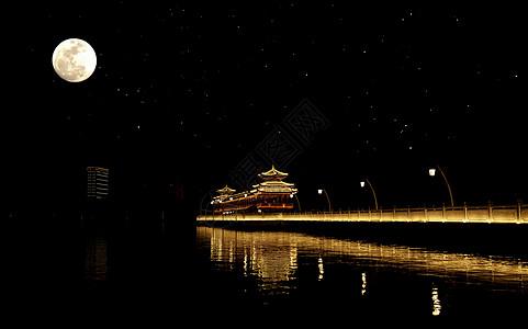 夜晚年嘉湖图片