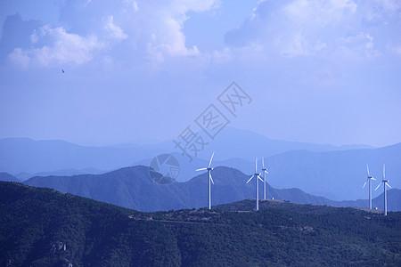 山上 风车 能源图片