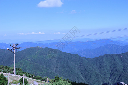 山  绿色 蓝天图片