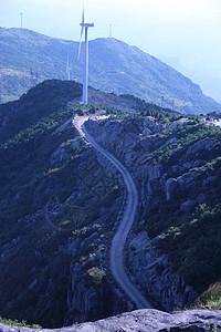 山上 风车 能源  山路图片