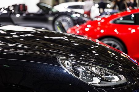 黑色高级豪华车头灯汽车图片