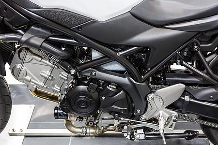 运动摩托车发动机图片