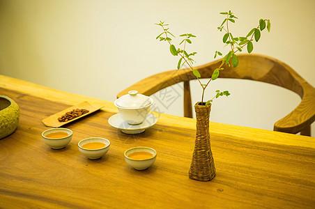茶叶 丹参茶用功夫茶方式冲泡图片