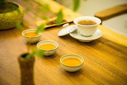 茶叶 丹参茶冲泡拍摄图片