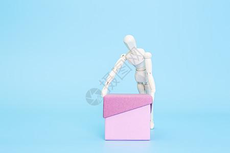 清新文艺木偶运输盒子图片