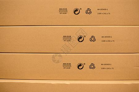 仓库货架购物节包装盒特写图片