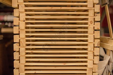 仓库货架购物节木架叠放图片