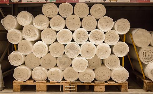仓库货架购物节被子筒装图片