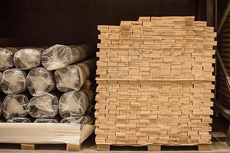 仓库货架购物节木料叠放图片
