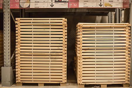 仓库货架购物节木框叠放图片